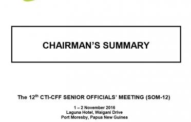Chairman's Summary SOM-12, Papua New Guinea...