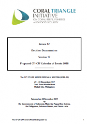 SOM 13 - Session 12 - Proposed CTI-CFF Calendar of Events 2018